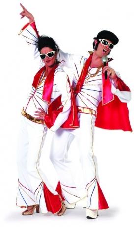 Mr. Elvis mit Schal Popstar Party Herrenkostüm Faschingskostüm Mottopa