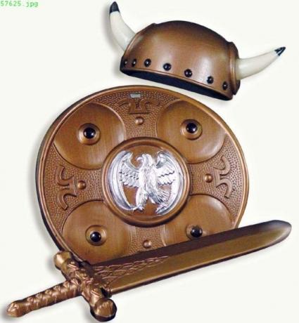 Wikinger Helm Schwert Schutzschild Karneval Fasching
