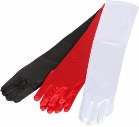 Satin Handschuhe lang Damen Fasching Kostümfest Accessoires Karneval
