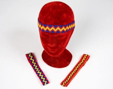 Indianerstirnband elastisch ohne Federn sortierte Lieferung