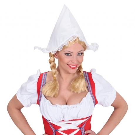 Bauernschürze mit Mütze Mittelalter Karneval Fasching