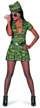 Soldatin Army Navi Girl sexy Look Karneval Fasching Mottoparty