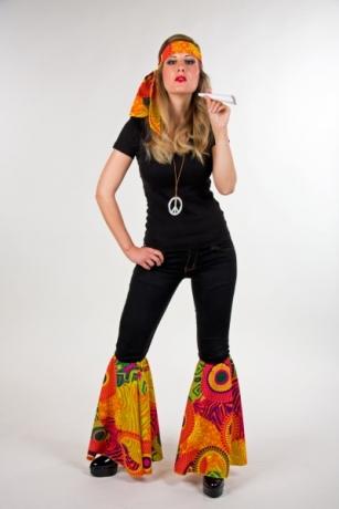 Hippie Set Stirnband Stulpen 60er 70er Jahre Schlager Mottoparty
