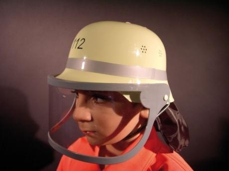 Feuerwehrhelm mit Klappvisier Kinder Karneval Fasching