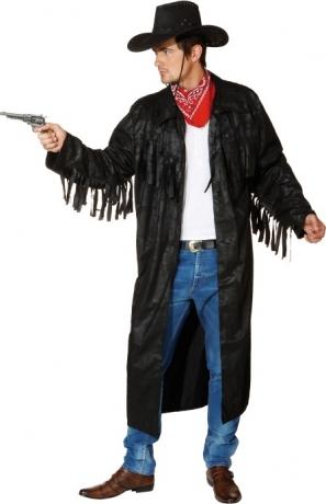 Cowboy Western Mantel schwarz Karneval Fasching Party