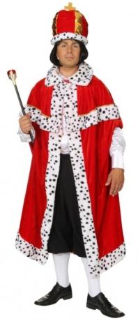 Königsmantel Herren Mottoparty Karneval Fasching
