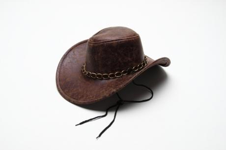 Cowboyhut Kunstleder Karneval Fasching Kostüm Party