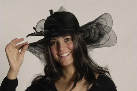 Damenhut Monaco schwarz Karneval Fasching Kostüm Party