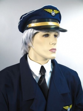 Pilot Pilotenmütze Uniform Karneval Fasching Party