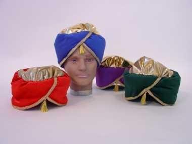 Turban Orient hochwertiger Samt Karneval Fasching Party