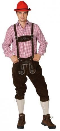 Kniebundlederhose Trachtenhose Albert Oktoberfest Karneval Wiesn