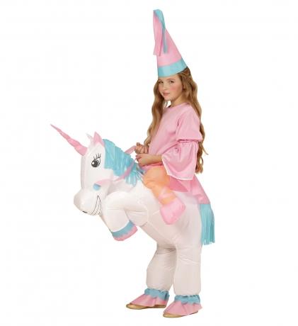 Einhorn Einhornkostüm aufblasbar für Kinder mit Hut Pony Pferd