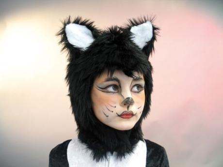 Katze Katzenhaube Karneval Fasching Kostüm Party