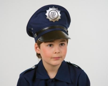 Polizeimütze blau für Kinder Kinderfasching Karneval