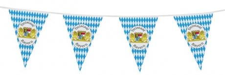 Wimpelkette Oktoberfest Freistaat Bayern 10m Grundpreis 0,20Euro/m