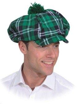 Mütze grünkariert Schottenmütze Karomütze Kopfbedeckung Herrenmütze