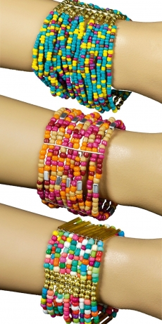 Armband Armbänder Santa Fe Hippie Hippieschmuck Perlenarmband