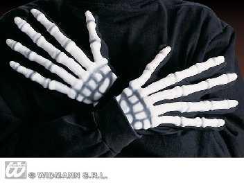 Skelett Handschuhe Karneval Fasching Halloween Party