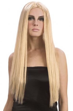 Langhaarperücke blond Hippie 70er Karneval Fasching