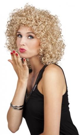 Perücke Showtime Damen Club blond Zubehör Fasching