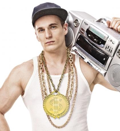 Rapperkette Hip Hop Szene Kette mit großem Anhänger Proll Macho