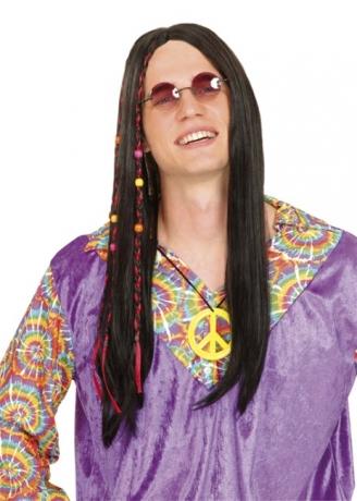 Hippie Perücke 70er Jahre Karneval Fasching Party