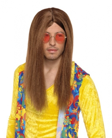 Hippie Perücke John 70er 80er Jahre Party Schlagermovie