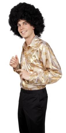 Disco Shirt Herren Hot Stuff Disco Hemd Party Fasching