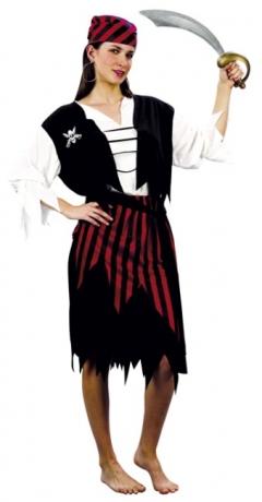 Piratin Kostüm Seeräuberbraut Karneval Fasching Party