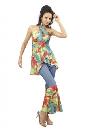 Hippie Frau 70er 80er Jahre Sunstar Mottoparty Karneval
