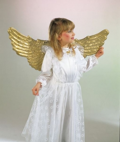 Engel Engelsflügel gold ca. 90 cm breit Christkind