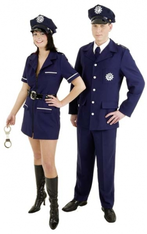 Polizistin / Polizist  Karneval Fasching Kostüm Party