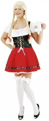 Dirndl mit Schürze rosa/weiß Oktoberfest Karneval Party