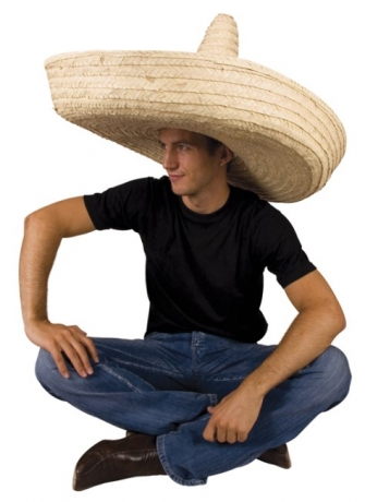 Sombrero Riesensombrero Palmblat Karneval Fasching