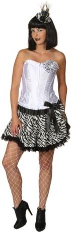 Pettiskirt Damenrock Zebra Look Karneval Fasching