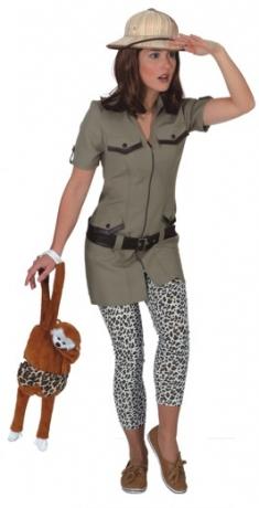 Safarikleid Damenkostüm Expedition Dschungel Mottoparty Kostümfest