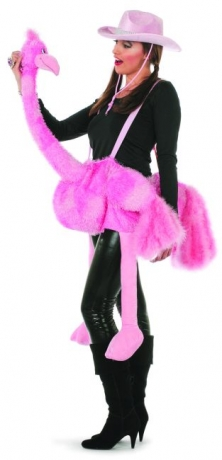 Strauß rosa Vogelstrauß Tierkostüm Damenkostüm Faschingskostüm Karneva