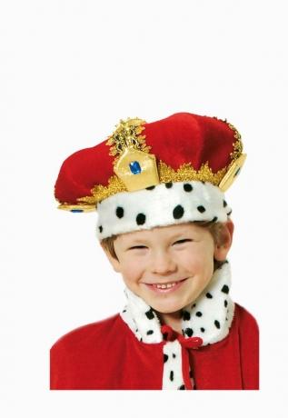 Königskrone für Kinder aus Samt König Prinz Kaiser Prunkkrone