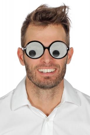 Spassbrille Funbrille Komikerbrille Brille mit großen Wackelaugen