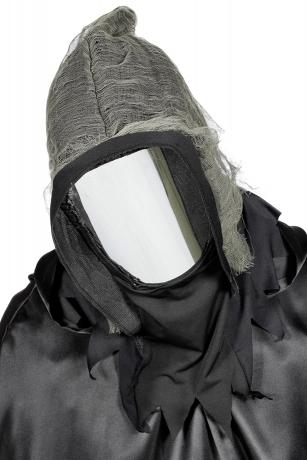Spiegelmaske mit Kapuze Halloweenmaske Horrormaske Sensemann