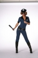 Polizistin Polizei Kostüm sexy Catsuit Karneval Fasching
