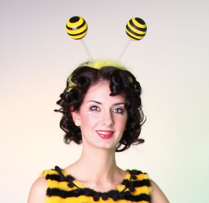 Bienen Handschuhe Frauen Karneval Fasching Biene
