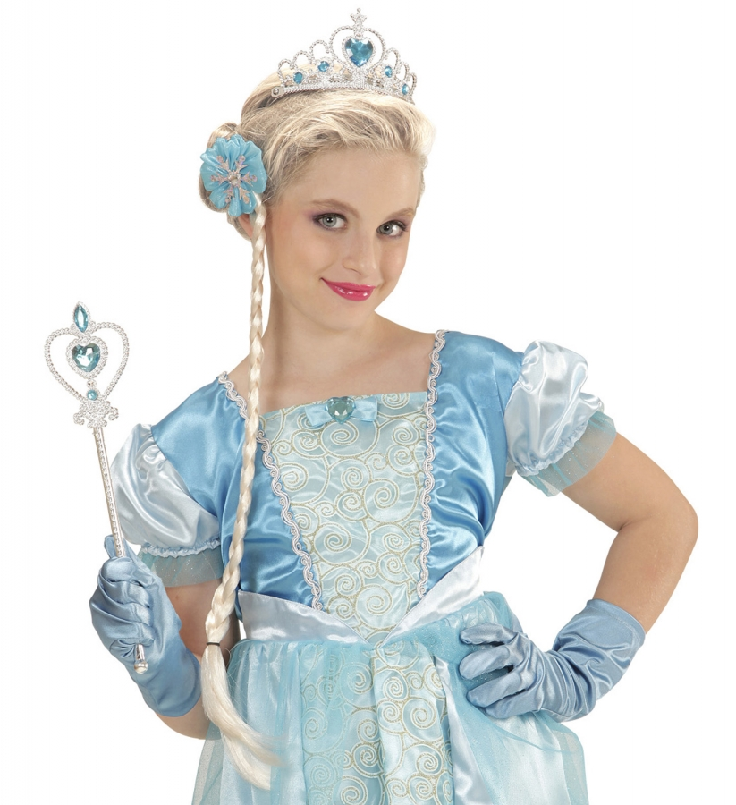 Set Prinzessin Fee Elsa Zubehor Frozen Diadem Zopf Handschuhe