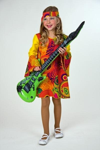 70er Jahre Hippie Madchen Flower Power Kostum Fur Kinderfasching
