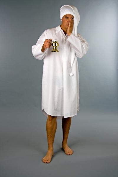 Weisses Nachthemd Fur Damen Oder Herren Pyjamaparty Nachtgewand