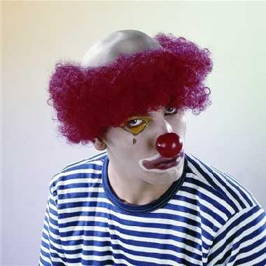 Clown glatze mit rotem haar karneval fasching party
