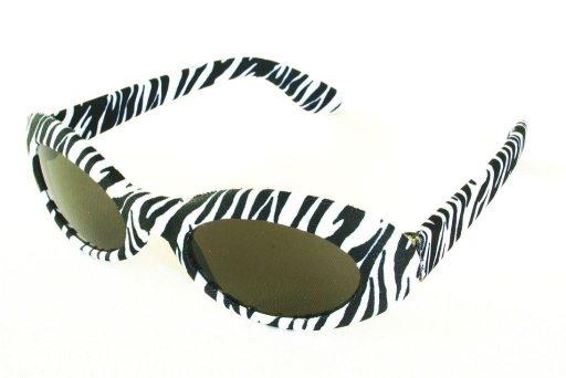 Brille Schwarz Weiss 70er 80er Sonnenbrille Zebra Fasching Karneval