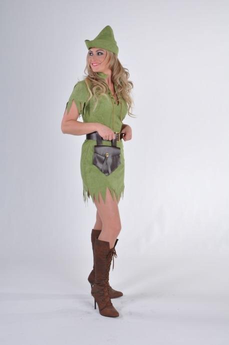Robin Hood Damenkostum Jagerin Falknerin