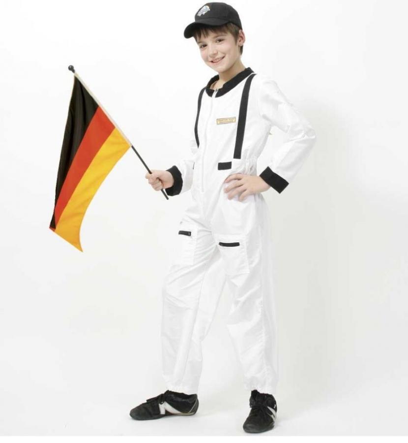 Astronaut Raumfahrer Weltall Kostum Kinder Karneval Fasching 128