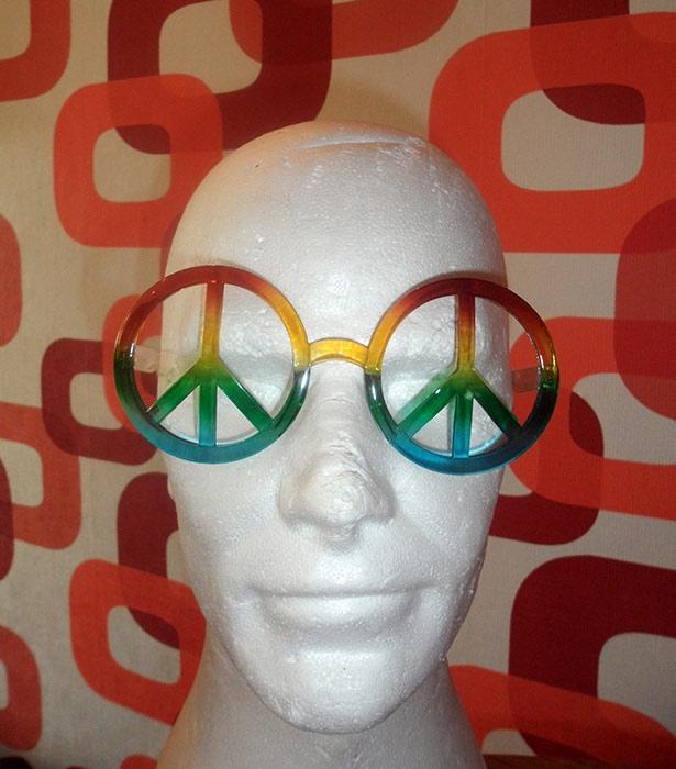 hippie brille peace regenbogen 70er jahre schlager themen. Black Bedroom Furniture Sets. Home Design Ideas